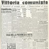 "Prima pagina de ""La Nuova scintilla"", 7 aprile 1946"