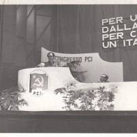 Fondo Fotografico Michele Minisci- XIV Congresso della Federazione forlivese del PCI, intervento del Segretario della FIOM Ellero Morgagni, febbraio/marzo 1975