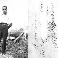 Il futuro sindaco di Modena Alfeo Corassori al confino a Ponza, nel 1934. Corassori era stato arrestato dall'Ovra nel 1933 per attività antifascista e condannato al confino per cinque anni.  [ISMO,  AFPCMO)