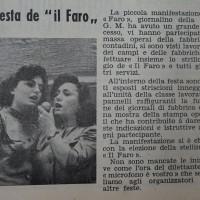 La festa di autofinanziamento de «Il Faro», 1952 [La Verità, 26 luglio 1952]