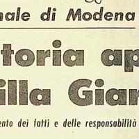 """""""Istruttoria aperta su Villa Giardini""""  [L'Unità, 7 maggio 1968]"""
