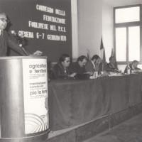 Fondo Fotografico Michele Minisci- iniziativa su agricoltura e il territorio organizzata dal PCI, intervento di Pio La Torre, 7 gennaio 1978