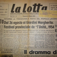 Il conto alla rovescia per il festival dell'Unità del 1954