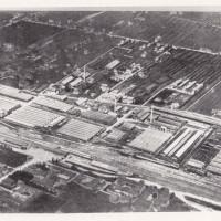 Veduta aerea del complesso delle Reggiane nel 1927, in basso sulla sinistra si riconosce la Stazione FFSS