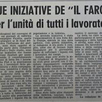 Articolo sulle iniziative de «Il Faro» nel 1952: una pagina delle piccole fabbriche di S. Cataldo e l'organizzazione di una festa della stampa operaia in una località agricola.  [«La Verità», 2 agosto 1952]