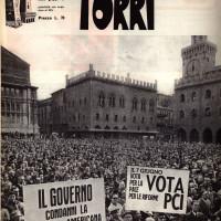 Piazza Maggiore campagna elettorale, giugno 1970