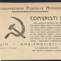 Volantino della Federazione modenese del Partito comunista italiano, senza data, che invita all'insurrezione armata  [ISMO, Cronaca Pedrazzi]