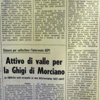 L'Unità Emilia Romagna, 9 giugno 1972, p. 6- articolo su un assemblea tenuta in Municipio dagli operai della Mangelli, giugno 1972
