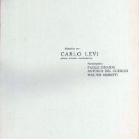 """Centro Gramsci, Ferrara, copertina della dispensa sul """"dibattito su Carlo Levi"""", tenutosi a Ferrara il 17 novembre 1977"""