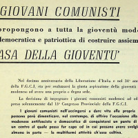 Invito dei giovani comunisti alla costruzione della Casa del giovane, 1955 [ISMO, AFPCMO]