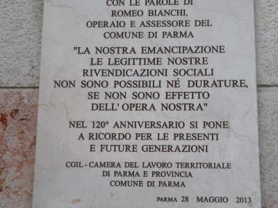 Palazzo del Governatore, settantesimo anniversario della fondazione della Camera del Lavoro di Parma