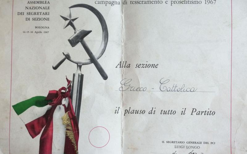 Partito comunista italiano – PCI.  Sezione di Cattolica